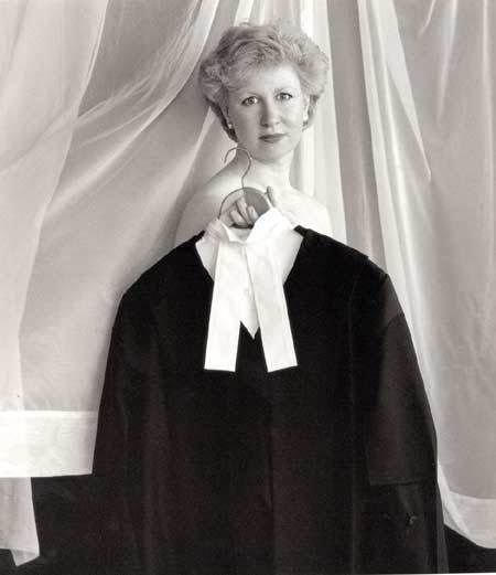 In 1990 Canada's Minister of Justice, Kim Campbell posed for a photo bare-shouldered and holding her robes in front of herself. It caused a minor scandal, but did not stop her party from choosing her as leader in 1993, making her Canada's first, and to date only, female prime minister.