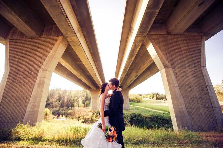 Beautiful couple, unique location    Edmonton Wedding Photographers - fmphotostudios