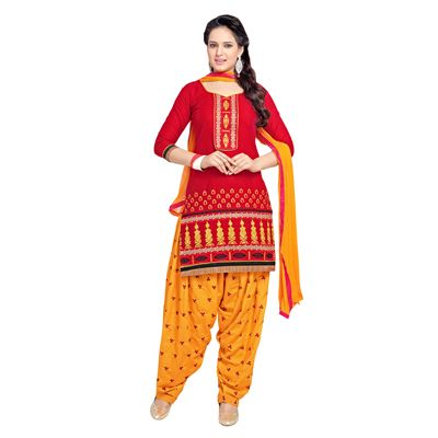 Buy Decent Wears Red Cotton Dress Material by Decent Wears, on Paytm, Price: Rs.1150