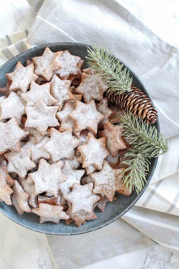 Healthy Almond and Cinnamon Christmas Stars - Christmas Cookies