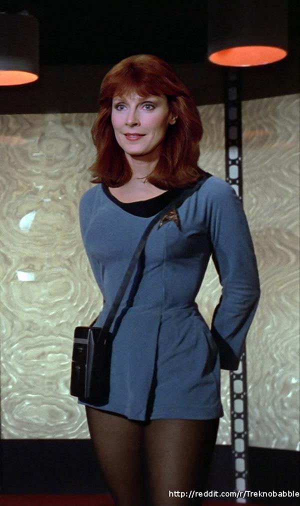 Star Trek: The Next Generation characters in Original Series costume