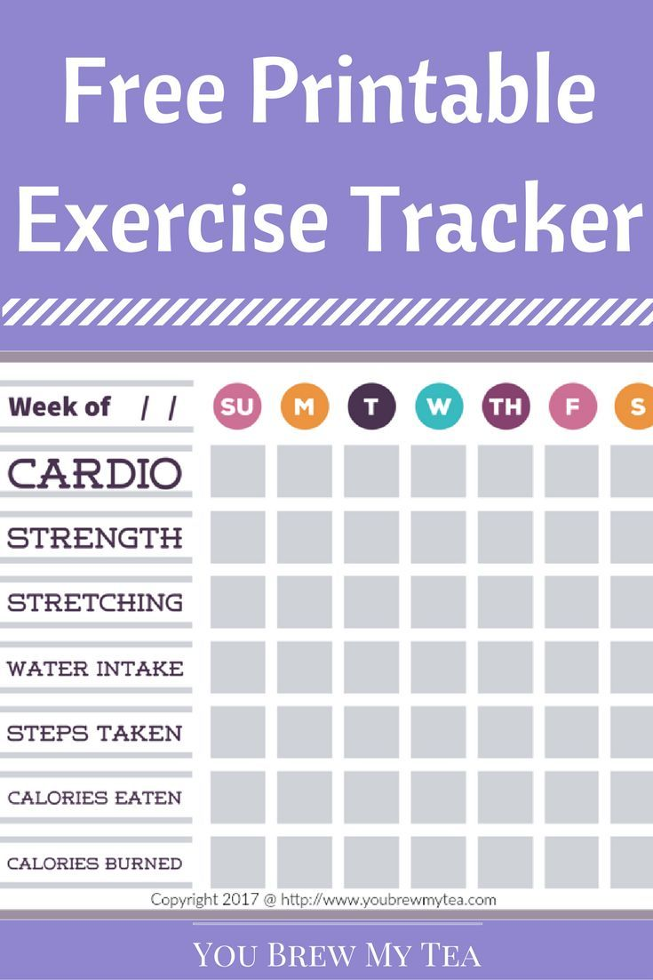 17 Best Ideas About Exercise Tracker On Pinterest