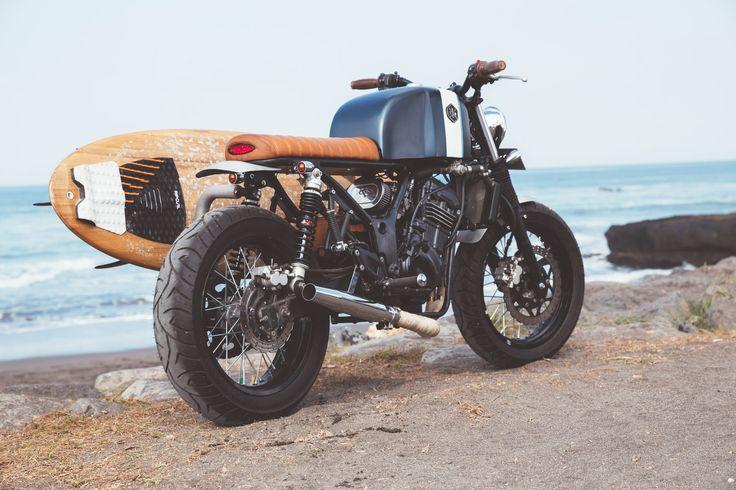 Indo Custom Motorcycles Ninja 250 Tracker-riding-shot-ninetynineco-ninety nine co custom motorcycles indonesia surfboard cafe racer tracker kawasaki ninja