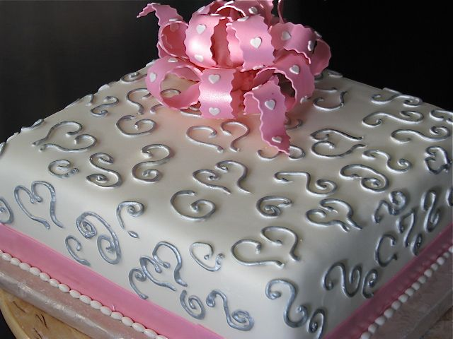 Square Small Wedding Cake By Tiersofjoy73 Via Flickr