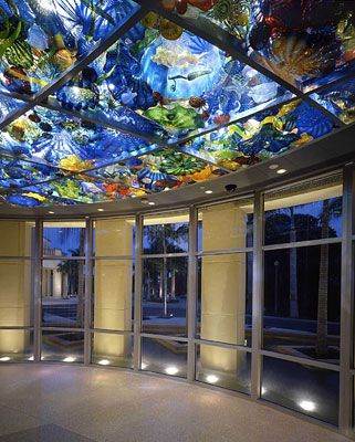 DALE CHIHULY  PERSIAN SEALIFE CEILING, 2003  200 SQ. FEET  NORTON MUSEUM OF ART  WEST PALM BEACH, FLORIDA