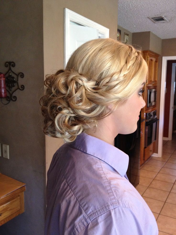 Homecoming Prom Curly Low Updo Hair Pinterest Low