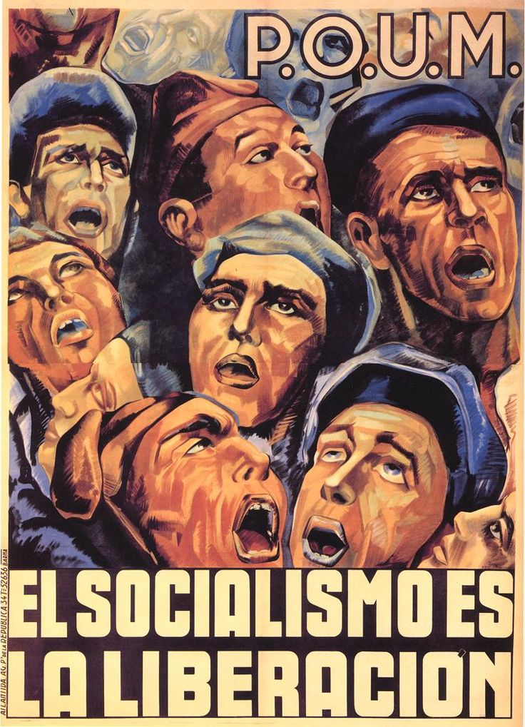 El socialismo es la liberación (Socialism is freedom) by Lienas, Rep, 1936. Contributor: Partido Obrero de Unificación Marxista.