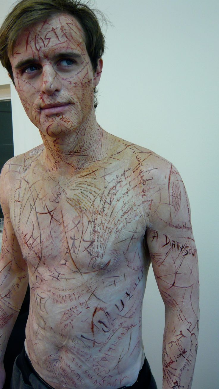 """""""Book of blood"""" body prosthetics.  Sculpted and applied by Tristan Versluis + team #sfx #halloween #makeup."""