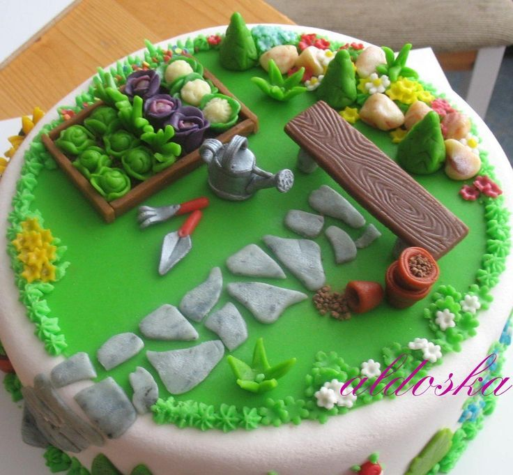32 best Gteaux jardinage images on Pinterest Garden cakes