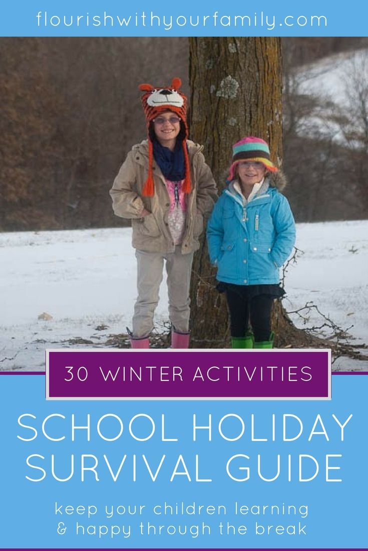 FREE School Holiday Survival Guide | activities for kids, family activities, holidays, raising children, fall, winter, design your day, free printables