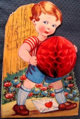 1920s 1930s Germany Boy Crepe Ball I'll Play The Game to Win Heart Valentine | eBay