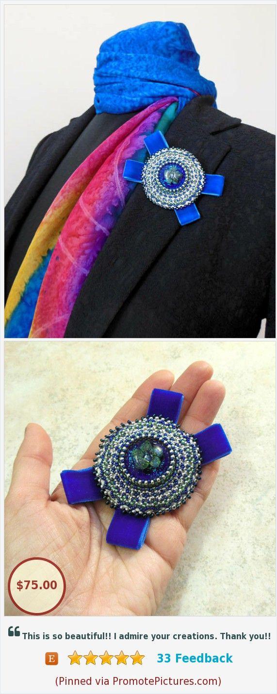 #Beads #Brooch #order #Beadedembroidery #VelvetribbonBlue https://www.etsy.com/Reginao/listing/591852855/beads-brooch-order-beaded-embroidery?ref=shop_home_active_1 (Pinned using https://PromotePictures.com)