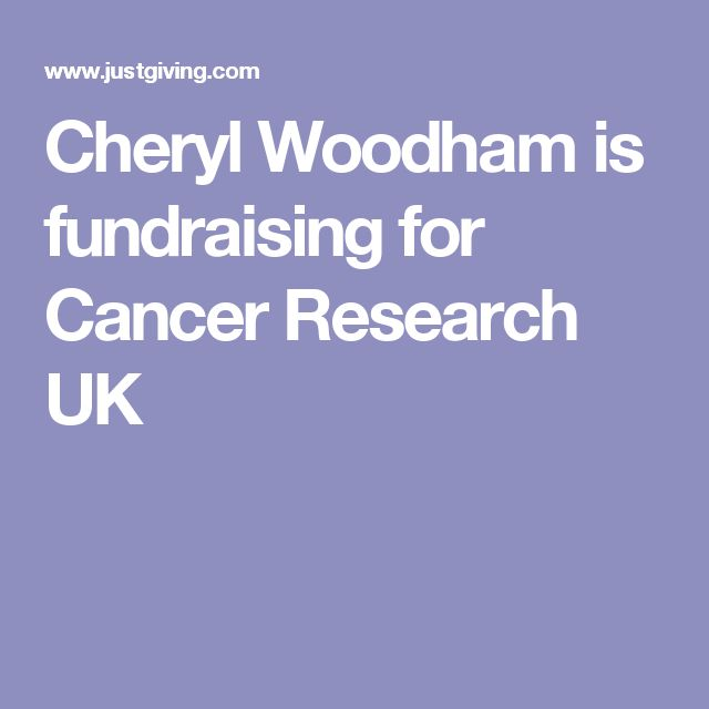 Cheryl Woodham is fundraising for Cancer Research UK