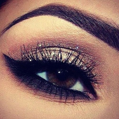 pretty | Make Up eyebrows lash. make up for brown eyes