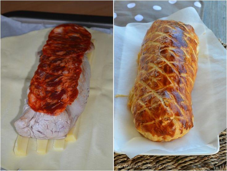 Filet mignon et chorizo en croûte