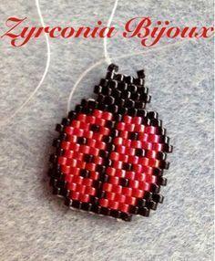 Zyrconia Bijoux: Schematic ladybug brick stitch