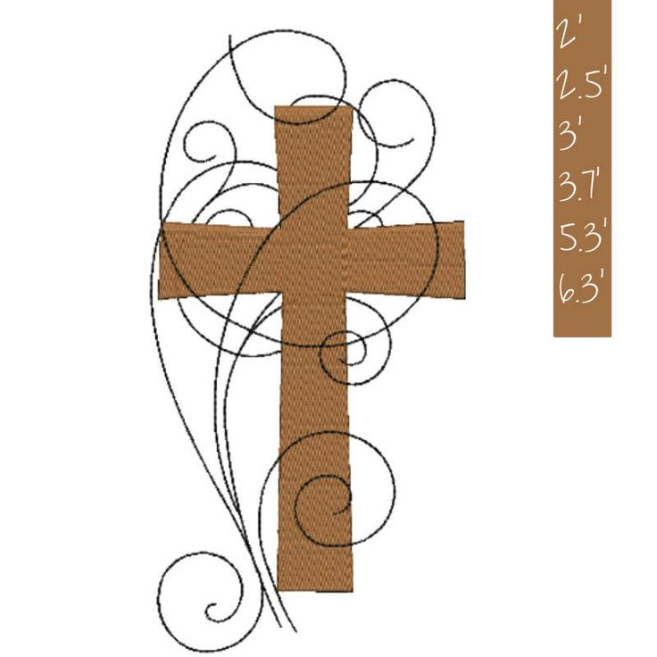 Cross Embroidery Design Religious Embroidery, baptism Jesus cross embroidery design easter Machine pattern digital download by GretaembroideryShop on Etsy