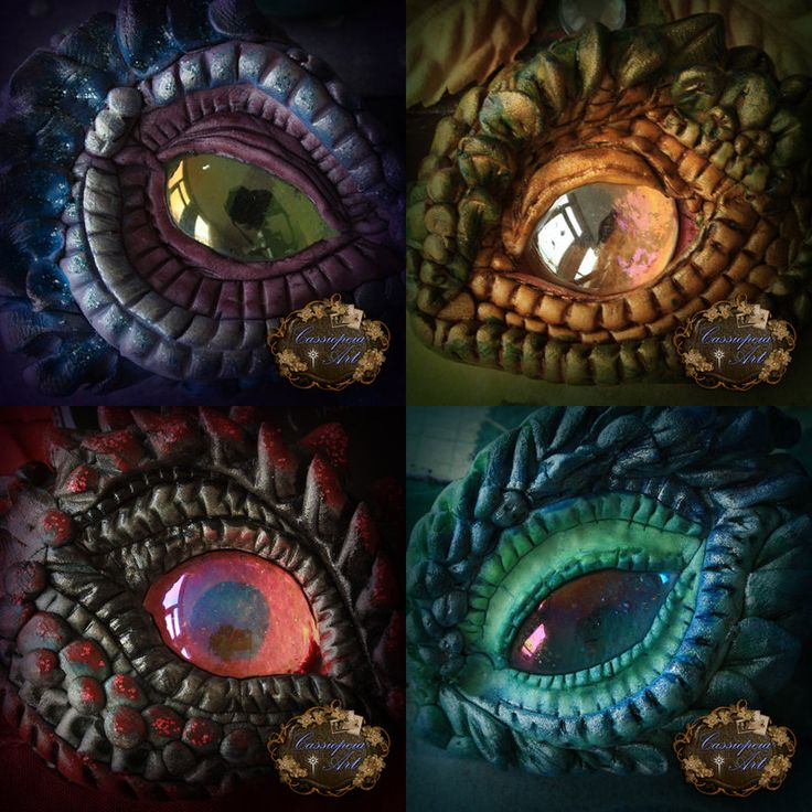 Clay dragon eyes by *CassiopeiaArt