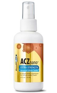 ACZ nano®Extra Strength selectively and irreversibly binds and removes toxic heavy metals, such as Mercury and Lead, chemical toxins, VOC's, radioactive toxins and free radicals of all types through the urinary tract, without removing vital nutrients. Advanced Cellular Zeolite (ACZ) nano® Extra Strength – 2oz 60ml spray #Zeolite