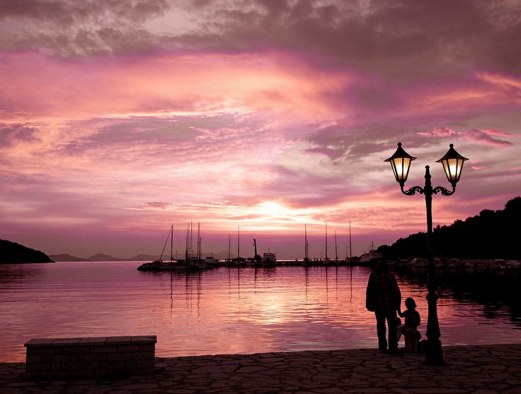 GREECE CHANNEL | Watching A Purple Sunset - Sivota Harbour Greece