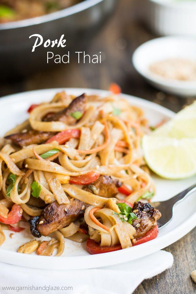 Pork Pad Thai   Garnish & Glaze