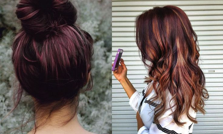 Cherry bombré hair colour