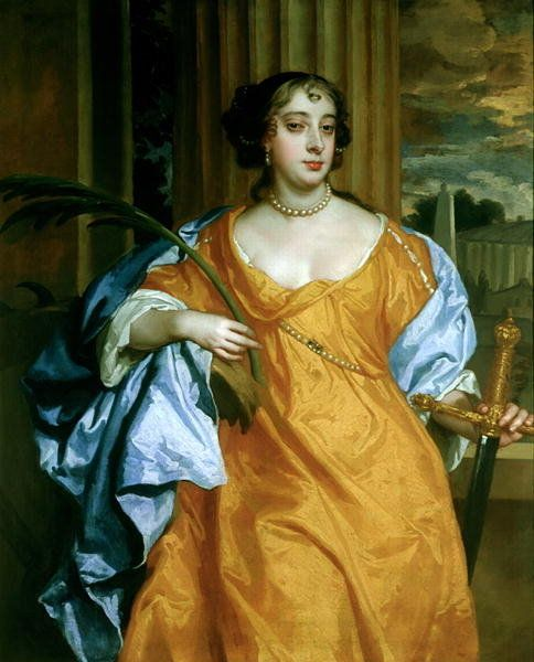 Barbara Villiers, Duchess of Cleveland as St. Catherine of Alexandria, c.1665-70 (oil on canvas) Posters & Prints by Sir Peter Lely
