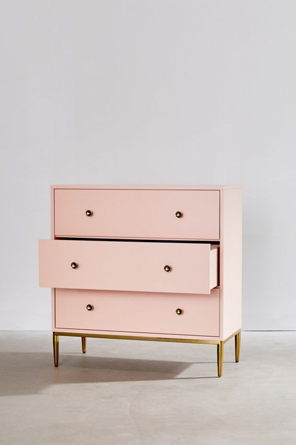 Cleo 3 Drawer Dresser Urban Outfitters Dresser Drawers Pink