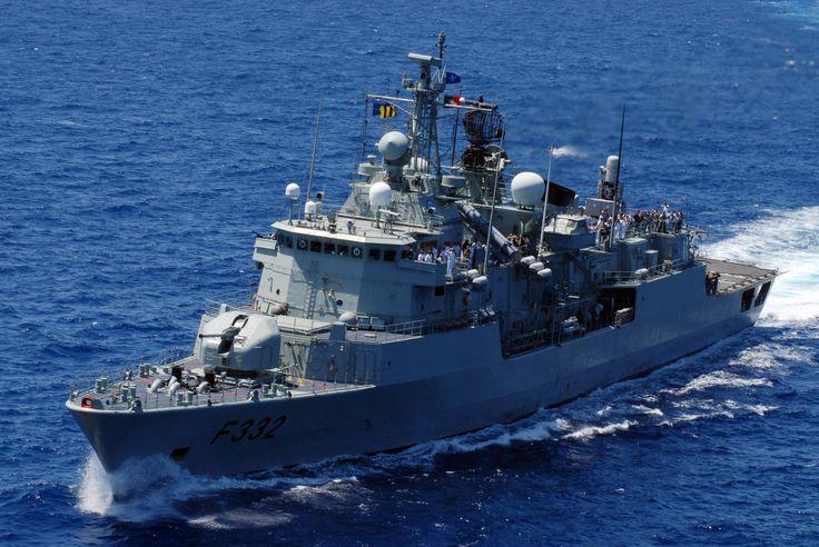 Portuguese Navy frigate NRP Corte Real.