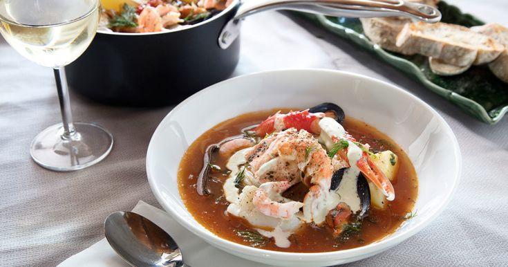 Sagolik fiskgryta med skaldjur – recept