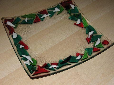 Resultado de imagen de fused glass christmas