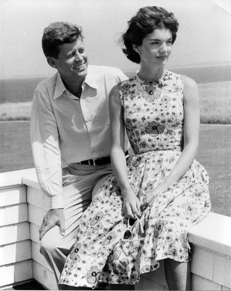 President John F. Kennedy and his wife, Jackie
