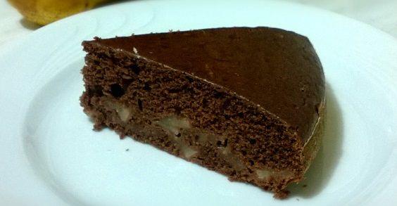 Torta vegan pere, cacao e cannella con farina di farro