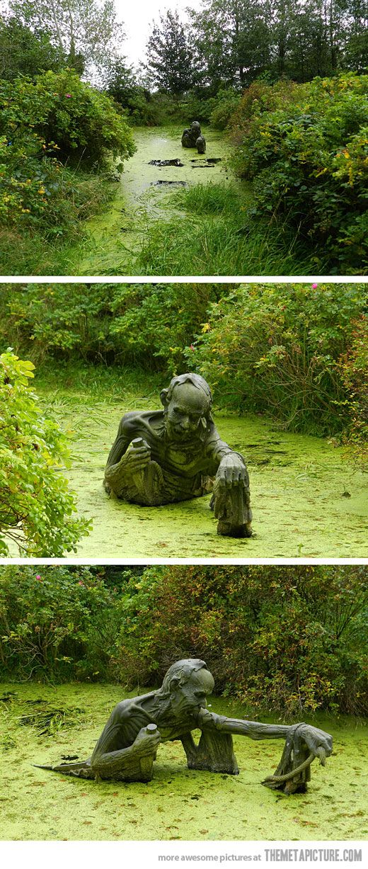 Swamp sculpture in Eastern Ireland I love it and now I want one for my backyard in Ireland, hahaha!