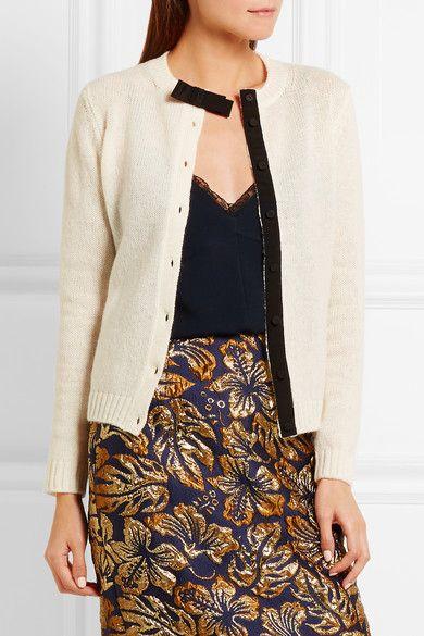 Prada - Bow-embellished Wool Cardigan - White - IT50