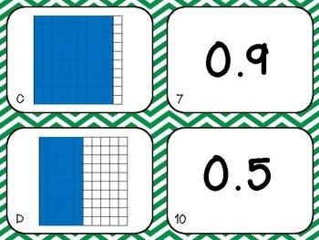 Decimal Model Matching Cards - The Science Penguin - TeachersPayTeachers.com