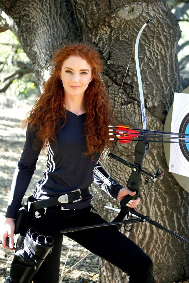 Virginia Hankins Archery Expert and a dead ringer for that cartoon chick from Brave.