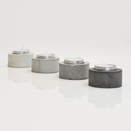 Concrete tealight holders | Concrete product design | Concrete | Interior | Inspiration | design | Beton design | Betonlook | www.eurocol.com