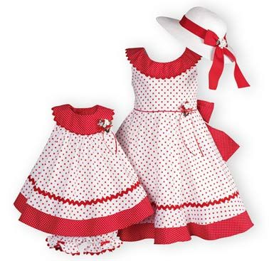 Polka Dot Twirl Girl's Summer Dress.Matching Sister Dresses.Made in USA exclusively for THE WOODEN SOLDIER.