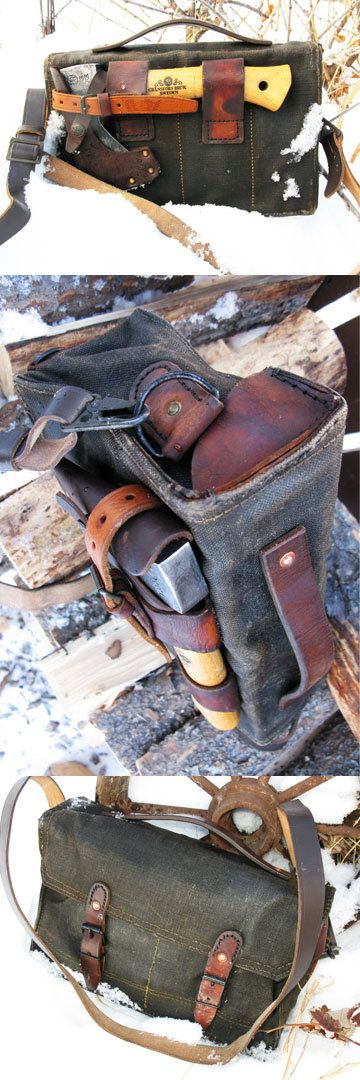 Bushcraft Bag for Gransfors Bruks Hatchet from https://www.etsy.com/ca/listing/264011684/leather-and-waxed-canvas-bushcraft-bag?ref=shop_home_active_1