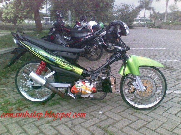 Yamaha Jupiter Z Drag Race Style Modifikasi: Drag Bike, Asian Bike