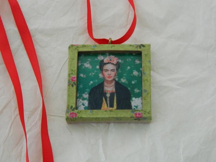 """Frida in a frame"" necklace"