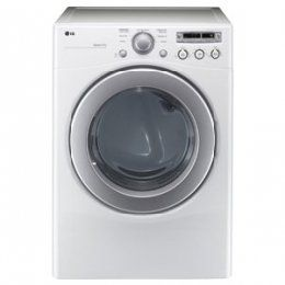 LG DLE2250W 7.1 Cu. Ft. White Stackable Electric Front Load Dryer 7.1 cu. ft. Extra Large Capacity. Sensor Dry System. SmartDiagnosis.  #LG #Major_Appliances