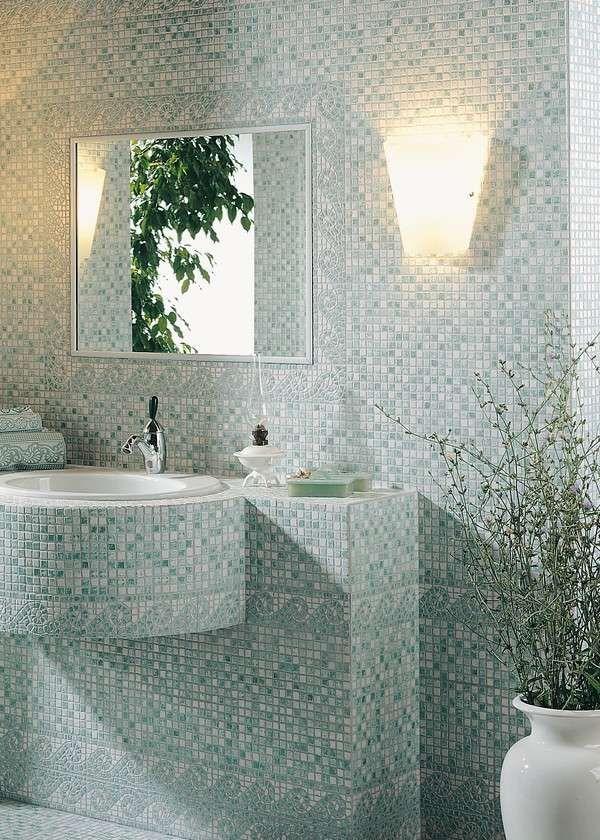 Foto di bagni a mosaico - Mosaico a tutta parete
