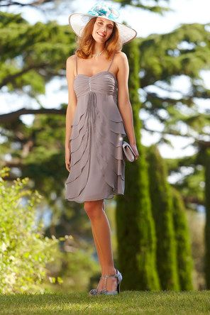robe ptales mousseline perle - Tenue Temoin Mariage