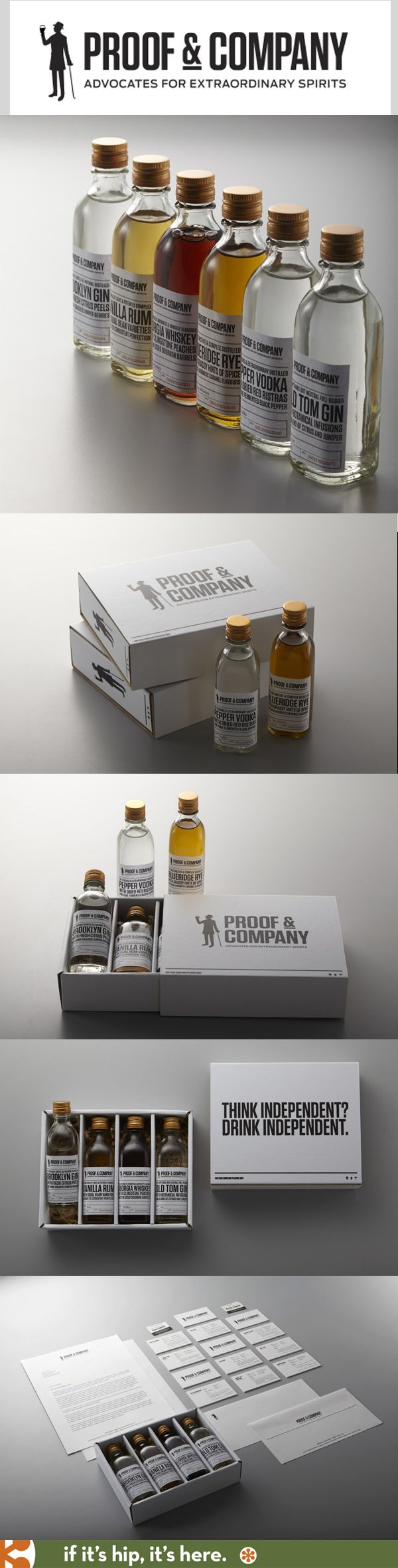 Proof & Co.  has very nicely packaged small batch spirits.