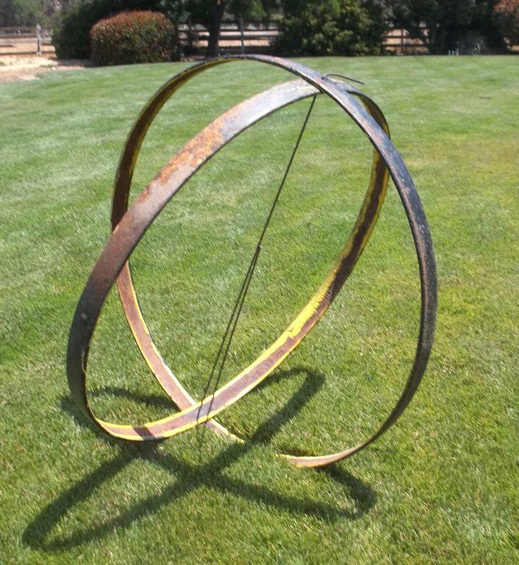 metal workings for sale large metal sphere orb garden sculpture indoor outdoor design artsyhome