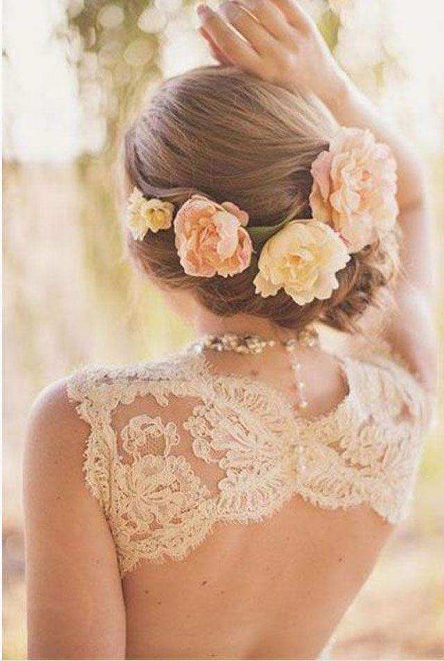 bruidskapsel bloemen