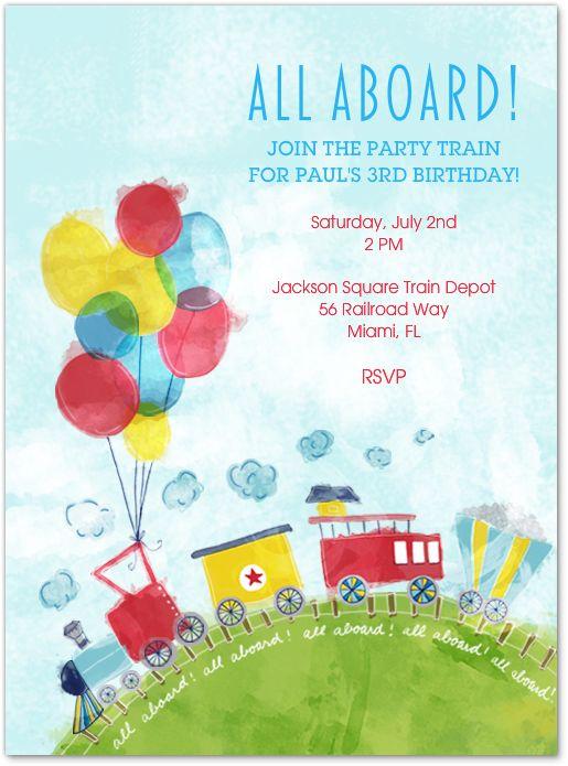 Train Kid's Birthday Party by Evite Postmark!