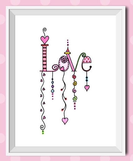 https://www.etsy.com/listing/193437445/love-dangles-giclee-print-inspirational?ref=shop_home_active_2 Love Dangles is a totally whimsical and fun illustration. This image with all of its colors and shapes was created with bright watercolors and inspiration.